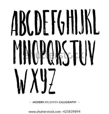 Blackletter Modern Gothic Font All Alphabet Stock Vector 346483970 ...