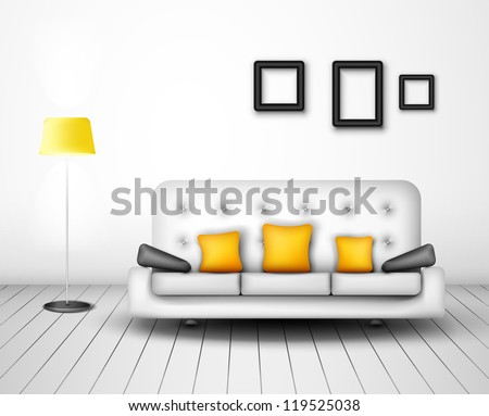 Modern interior design. Eps 10 - stock vector