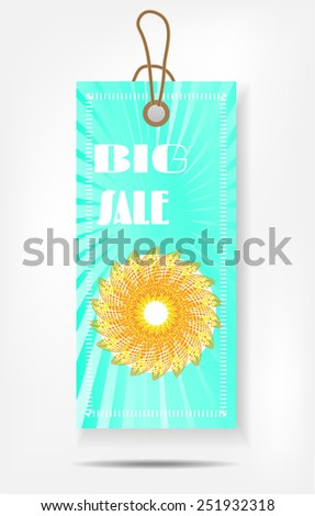 Modern, isolated, hanging tag on white background - stock vector
