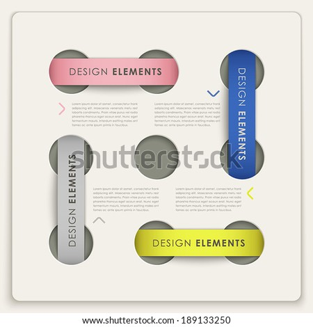 modern label style vector abstract infographic elements - stock vector