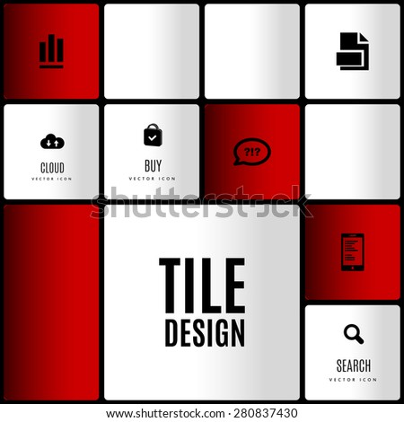 Modern layout. Design concept of white and color squares with set of 