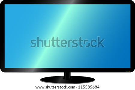 Modern lcd TV on a white background/Realistic lcd tv - stock vector