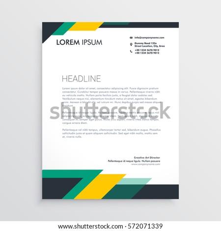 template letterhead design