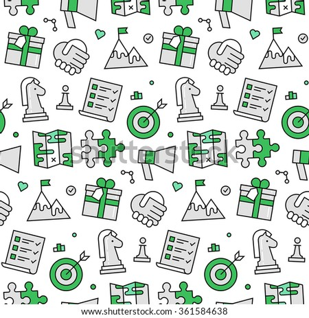 Bloomicon 39 S Icons Seamless Pattern Set On Shutterstock