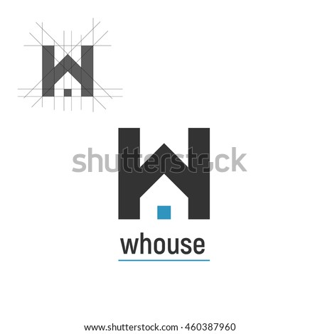 Modern logo concept abstract mark template stock vector for Modern house logo