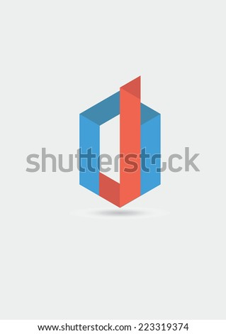 Modern logo icon - stock vector