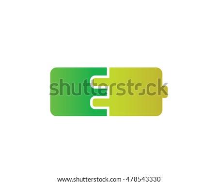 Modern Logo Symbol E Energy Tech Stock Vector 2018 478543330