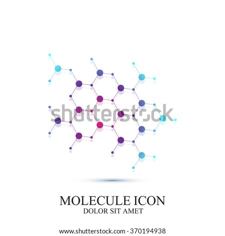 Modern logotype icon dna and molecule. Vector template for medicine, science, technology , chemistry - stock vector