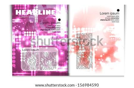 Modern magazine template. Vector - stock vector