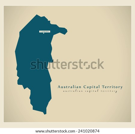 Modern Map - Australian Capital Territory AU - stock vector