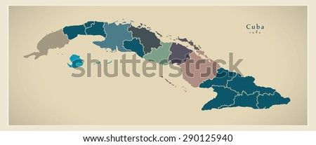 Cuba Map Vector Stock Images RoyaltyFree Images Vectors - Cuba provinces map