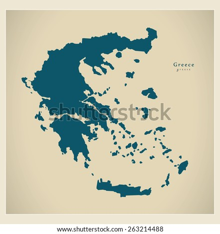 Modern Map - Greece GR - stock vector
