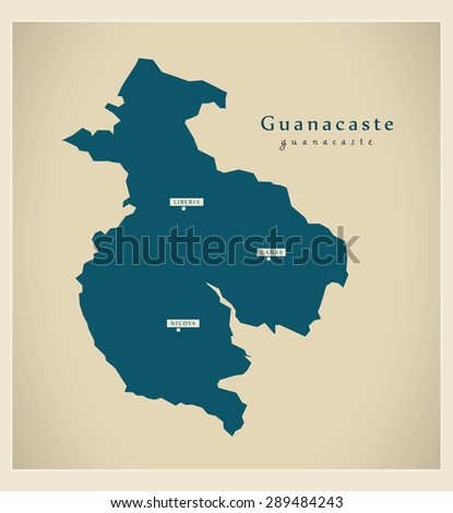 Modern Map - Guanacaste CR
