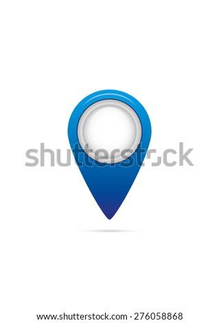 Modern map marker - stock vector