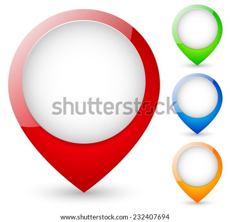 Modern map markers. vector illustration - stock vector