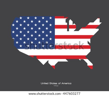 Modern Map, United States,  Independence day background