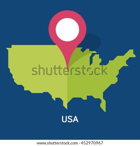 Washington Pin On Map Stock Images RoyaltyFree Images Vectors - Washington on map of usa