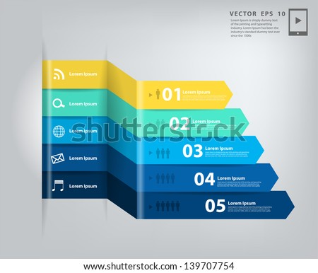 Modern minimal business step style options banner infographics, Vector illustration template design - stock vector