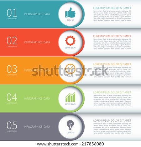 Modern minimal colorful arrow infographics elements. Vector illustration. Can be used for workflow layout, diagram, number and step up options, web design. - stock vector