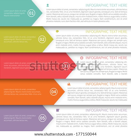 Modern Minimalistic Multicolor Infographics Template. - stock vector
