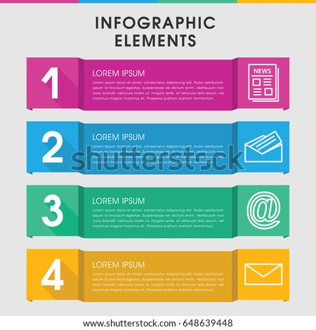 modern contour infographic template infographic design stock, Presentation templates