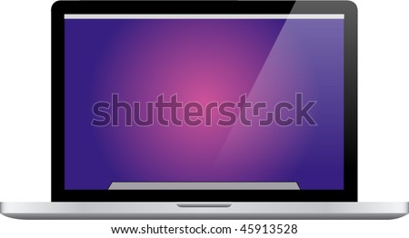 Modern notebook computer - stock vector