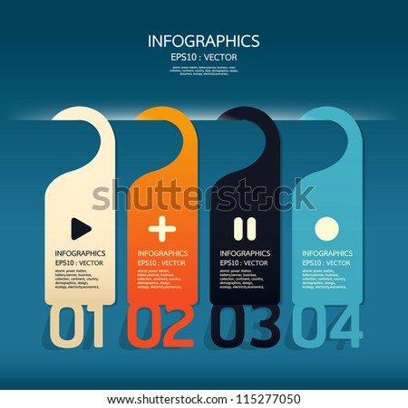 Modern number banner Design template / can be used for infographics / numbered banners / horizontal cutout lines / graphic or website layout vector - stock vector