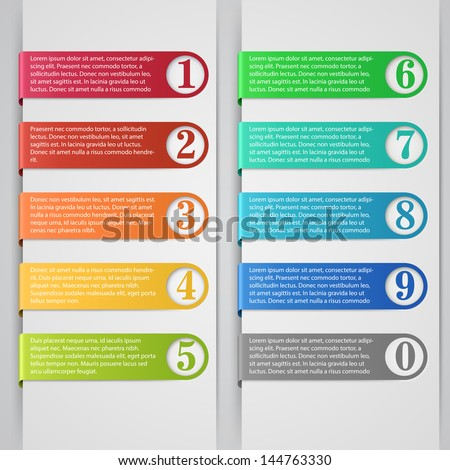 Modern number list infographic banner - stock vector