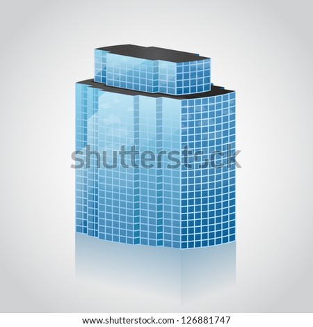 modern office building. vector icon