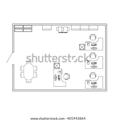 Stock images royalty free images vectors shutterstock modern office interior with furniture vector floor plan blueprint architectural background malvernweather Choice Image