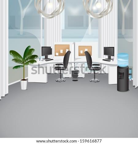 Modern Office   Vector Illustration, Graphic Design Editable For Your Design