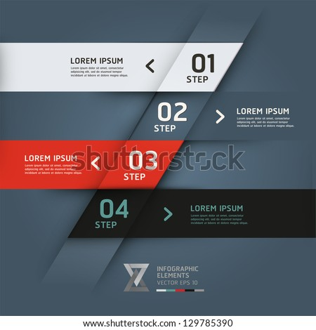 Modern origami style options banner. Vector illustration. can be used for workflow layout, diagram, number options, step up options, web design, infographics. - stock vector