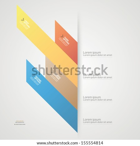 Modern origami style options colorful infographics banner. Vector illustration.