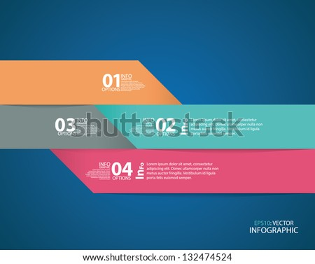 Modern origami style step up options banner, infographics. Vector