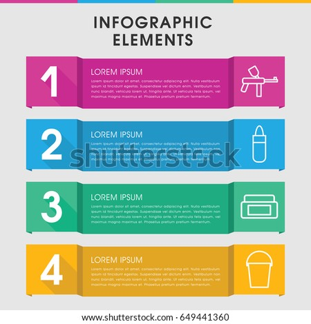 modern paint infographic template infographic design stock vector