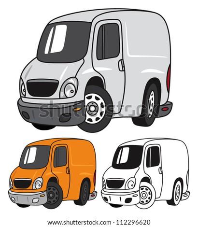 Modern Panel Van - stock vector