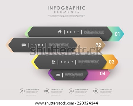 modern paper arrow banners template infographic elements  - stock vector