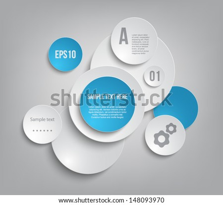 Modern paper panel / banners for business design, infographics, reports, number options, step presentation or workflow layout. Clean style - stock vector
