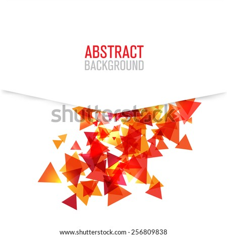 Modern poligonal background for brochure and covers - stock vector