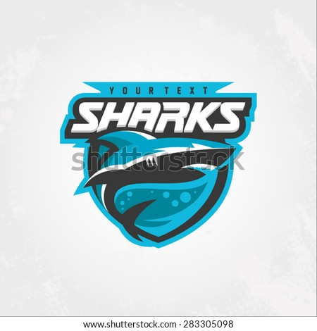 Modern professional sharks logo for a club or sport team - stock vector