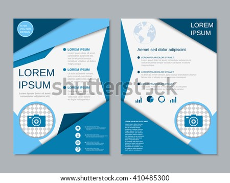 Modern professional twosided booklet vector design stock for Two sided brochure template
