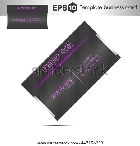 Modern purple business card template