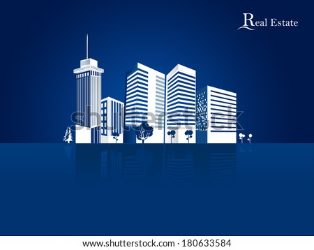 Modern real estate buildings Vector Design - eps10 Building and City Illustration, City scene,