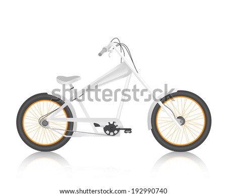 Modern realistic bicycle white vector - stock vector