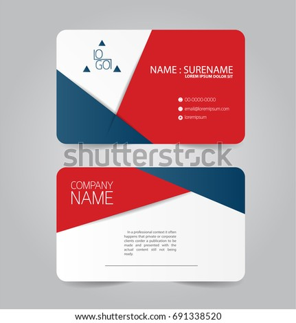 Modern red blue business name card stock vector royalty free modern red and blue business name card template design cheaphphosting Choice Image