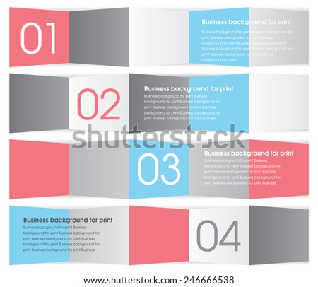 Modern red, blue and gray design. Business background - vector illustration