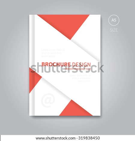 Modern Red Corporate Concept Book Magazine Stock Vector - A5 brochure template