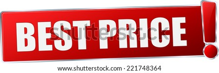 modern red 3D vector eps10 best price button sign - stock vector