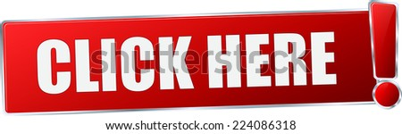 modern red 3D vector eps10 click here button sign - stock vector