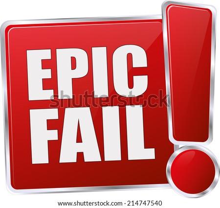 Epic Fail Clipart Modern Red Epic Fail Vector